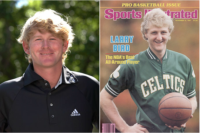 Brandt Snedeker and Larry Bird