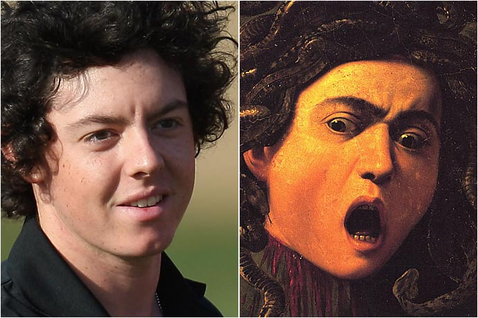 Rory McIlroy and Caravaggio's Medusa