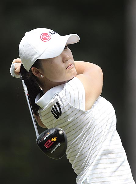 Angela Park is one stroke off the lead at four under par.