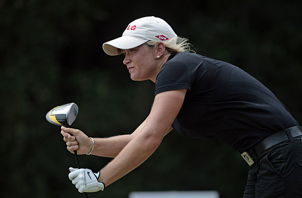Suzann Pettersen birdied No. 17 to shoot a 71.