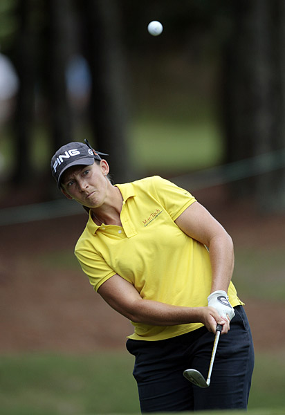 Angela Stanford shot a second straight 67 for a four-shot lead.