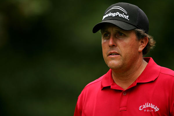 Phil Mickelson shot a four-under 66 to finish at six under.