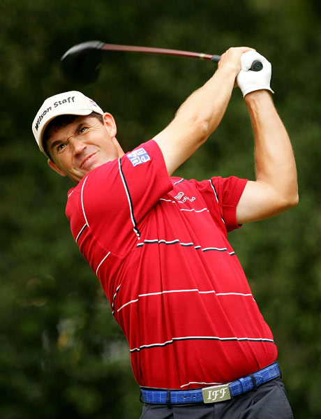Padraig Harrington had a rough front nine and finished with a three-over 73, dropping him from seventh to 11th.