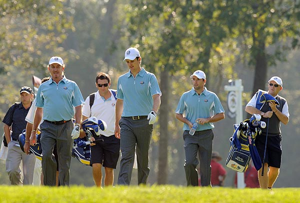 Miguel Angel Jiminez, Justin Rose and Oliver Wilson also played together.