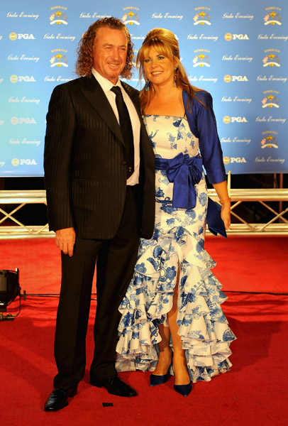 Miguel Angel Jimenez and wife Montserrat Bravo Ramirez.