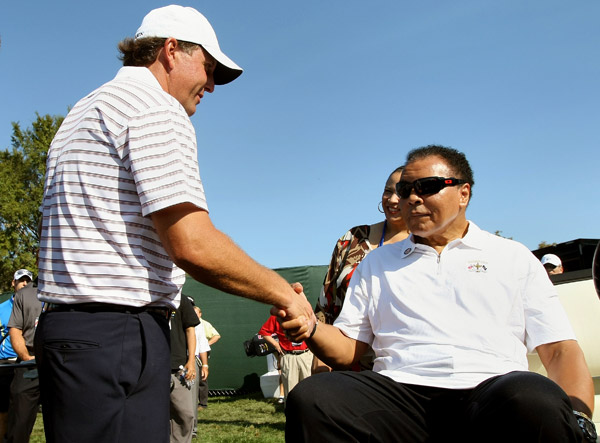 Muhammad Ali, a Louisville native, surprised Phil Mickelson and the other Ryder Cup players.