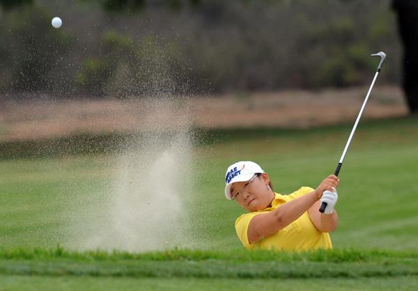 Jiyai Shin leads by one stroke after a three-under 69.