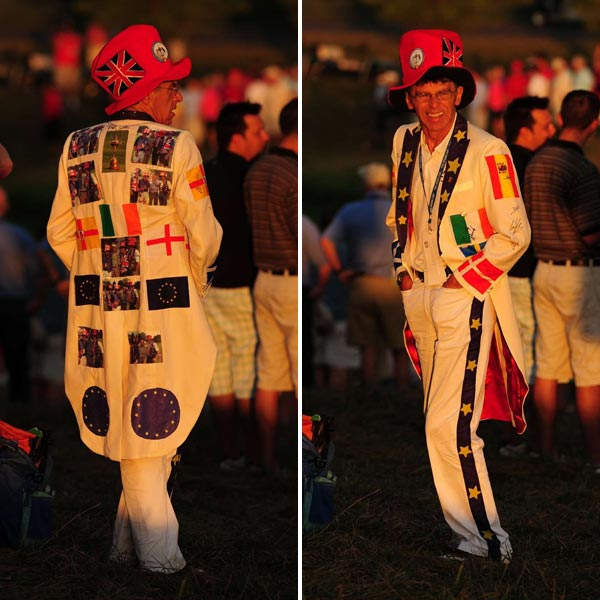 This fan had an entire Ryder Cup ensemble from head to toe.