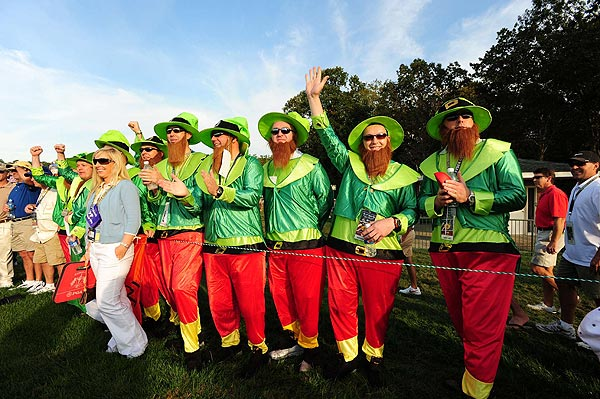 A group of coordinated fans brought the luck of the Irish to Valhalla.