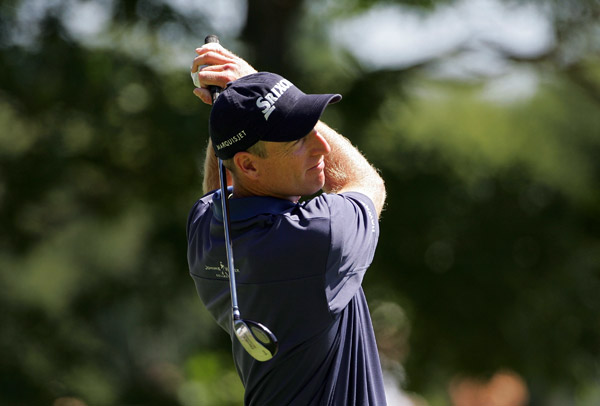 Jim Furyk shot a one-over 72.