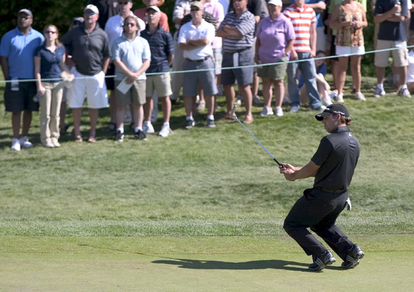 Sergio Garcia started hot with birdies on Nos. 2, 3 and 4, but he collapsed on the back nine, shooting a three-over 38.