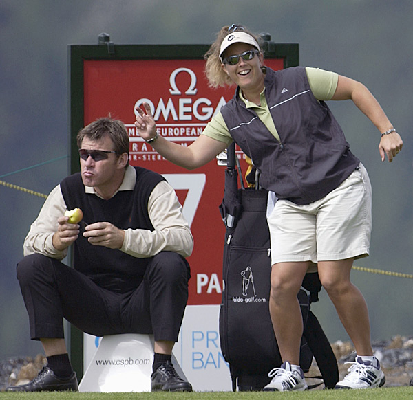"Nick Faldo and Fanny Sunessen                                              When Nick Faldo showed up with new Swedish caddie Fanny Sunesson at the Skins Game in Australia in early 1990, one British tabloid tried to stir up a scandal with the headline ""Nick's Chick."" However, Faldo and Sunesson's relationship was all business, and Sunesson proved herself to be one of the Tour's top caddies as Faldo won both the Masters and the British Open that year.                                              Sunesson is now Henrik Stenson's caddie. And no, she doesn't have trouble carrying that 40-pound bag. ""It's no big deal,"" Sunesson says. ""I'm used to it. I carry on both shoulders, and I'm strong."""
