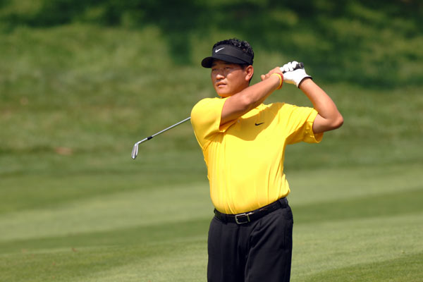 Name: K.J. Choi                   Country: South Korea                   Age: 37                   PGA Tour victories: 6                    Major Victories: 0                   Previous teams: Presidents Cup (2003)                   Records: Presidents Cup (2-3-0 overall, 1-1-0 Four-Ball, 0-2-0 Foursomes, 1-0-0 Singles)