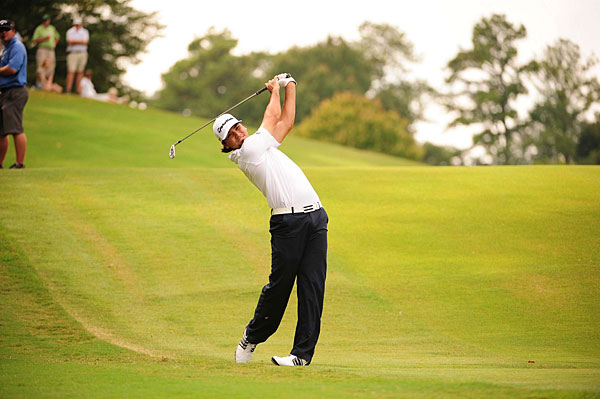 Jason Day is in the hunt after a pair of 67s.