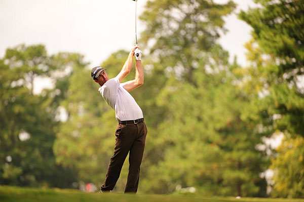 Geoff Ogilvy made four birdies and two bogeys for a 68.
