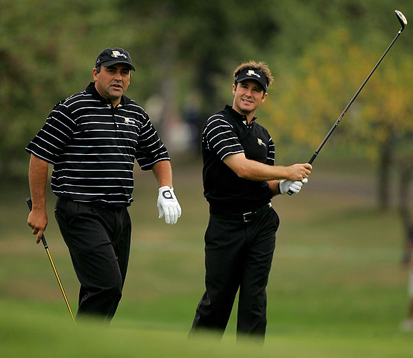 U.S. Open champion Angel Cabrera played with teammate Trevor Immelman on Tuesday.