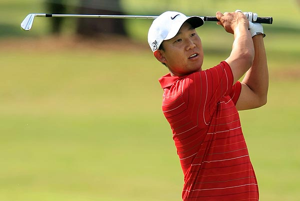 First Round of the Tour Championship                       Anthony Kim has a four-stroke lead after the first round in Atlanta.