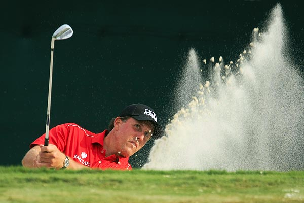 Phil Mickelson also shot a 2-under 68 on Thursday.