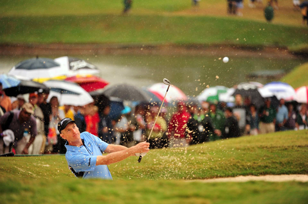 Furyk got up and down from a greenside bunker on the par-3 18th to secure a one-shot win over Luke Donald.