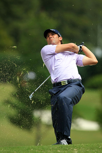 Sergio Garcia, who lost to Kim at the Ryder Cup, will be in the final group Saturday after a 65.