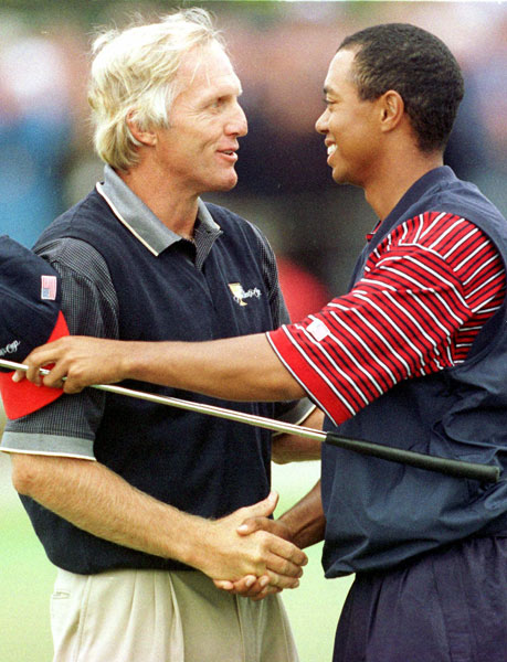 Top 10 Presidents Cup Moments                     10. Melbourne, Australia, 1998. In front of a raucous home crowd, Greg Norman was two shots down to Tiger Woods when they arrived at the 17th tee. Norman, the former No. 1 player in the world, proceeded to blow a drive 25 yards past Woods, then stiffed his approach to five feet and made the putt for birdie, cutting the lead to one and forcing another hole. Woods won, but it was great theater and a visceral passing of the torch.