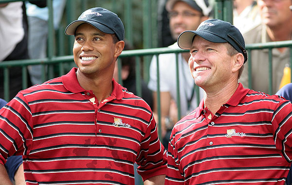 Woods played with Scott Verplank on Wednesday.