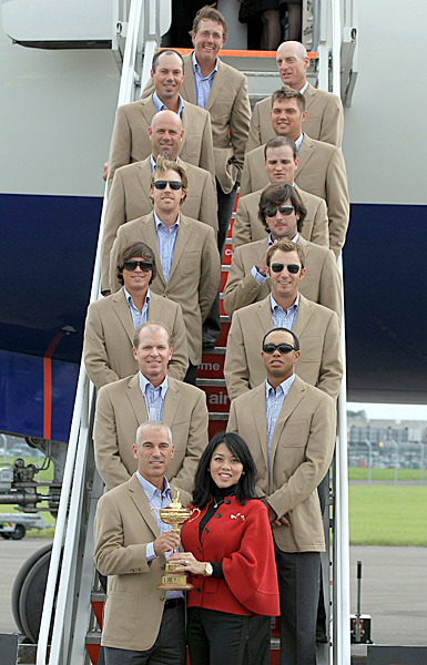 The entire United States team arrived in Wales earlier in the day.