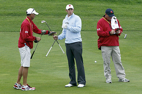 also got some practice in Monday. This will be his first Ryder Cup appearance.