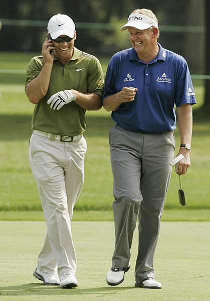 Paul Casey borrowed Colin Montgomerie's phone at the 2008 PGA.
