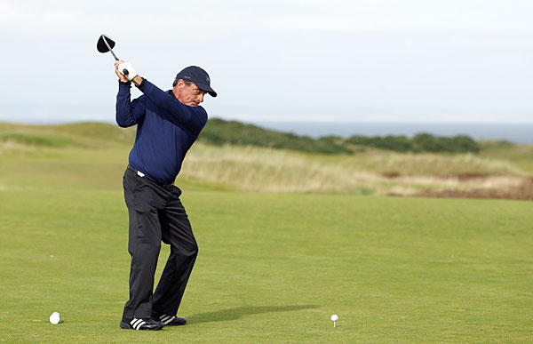 Tico Torres put down his drum sticks and picked up his clubs for a round at Kingsbarns.