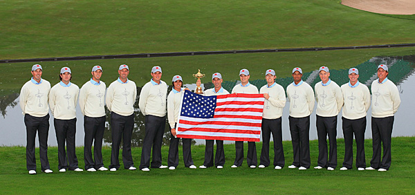 The U.S. players got up early Tuesday morning to do a photo shoot before playing their practice rounds.
