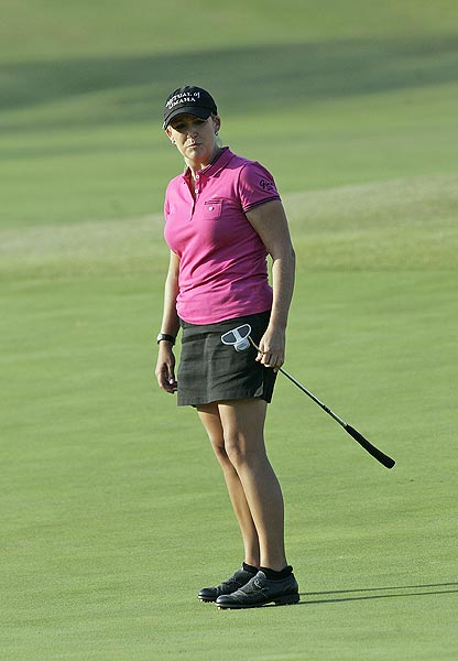 Cristie Kerr bogeyed the first playoff hole to drop out of contention.