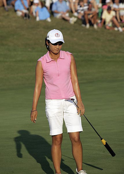 Candie Kung also made the playoff but lost on the second hole.