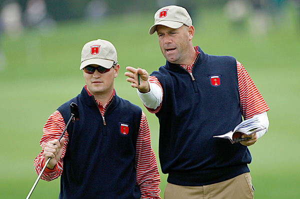 Major winners Zach Johnson (left) and Stewart Cink (right) are a potential pairing this week.