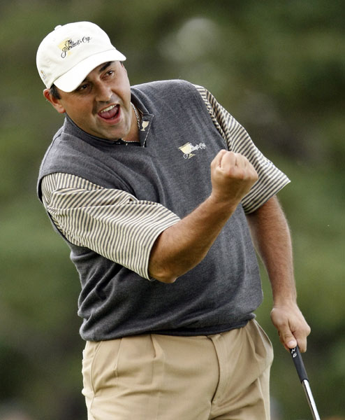 Angel Cabrera                       Overall record: 2-2-0                       Points earned: 2                       Grade: B-                       In team competitions, stars have to come through, and the U.S. Open champ is now a star. Aside from making a key birdie putt on the 18th on Friday, Cabrera didn't deliver. Friday's win with Retief Goosen was big, and he beat a gutsy Woody Austin, 2 and 1, on Sunday, but his game was erratic. He and K.J. Choi blew a 2-up lead through 12 holes in Saturday's four-ball match against Stewart Cink and Jim Furyk.