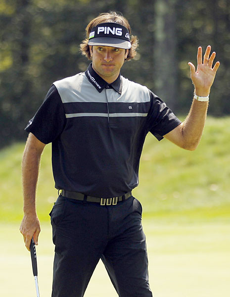 Bubba Watson shot a seven-under 64 to move into a share of the lead.