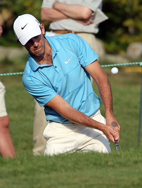 Charl Schwartzel made six birdies on the front nine on his way to a 66 and a share of the lead.