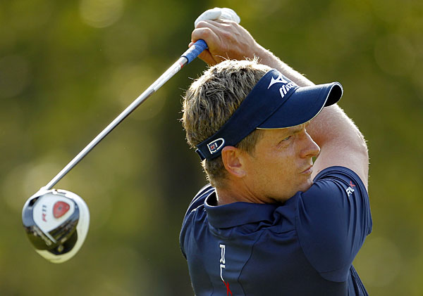 Luke Donald made four birdies and three bogeys to stay in contention.