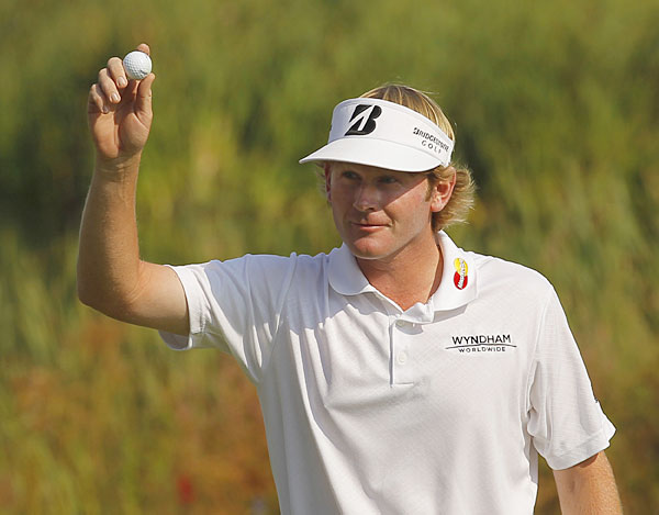 Brandt Snedeker made two eagles in his round, including an ace on the par-3 16th hole.