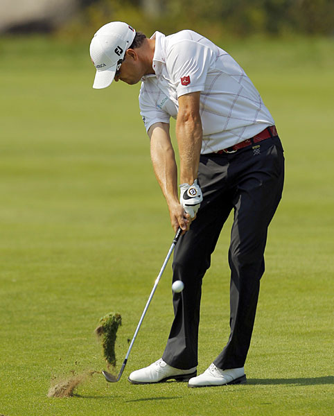 Zach Johnson made five birdies and three bogeys for a two-under 69.