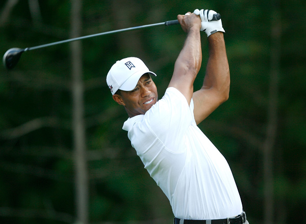 Woods made five birdies and a bogey on Saturday.