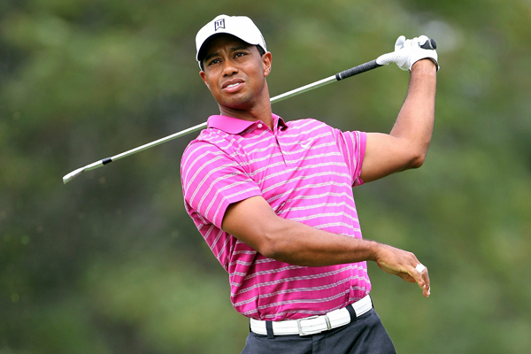 double-bogeyed his first hole, then struggled to claw back throughout his round. He finished with a two-over 73.