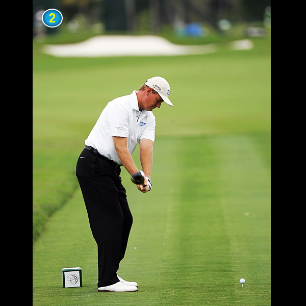 "Note how quickly the shaft becomes parallel to the ground. The old adage ""take it back low and slow"" makes your swing stiff and keeps you from correctly hinging your wrists."