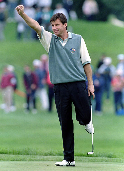 Nick Faldo                                              The all-time leader on either side in Cups played (11) and points won (25) could coolly, clinically take apart both a course and an opponent. He                       had an aura of invincibility--and his physical presence was imposing, too. And beneath that exterior, there was real patriotic fervor in Faldo's blood.