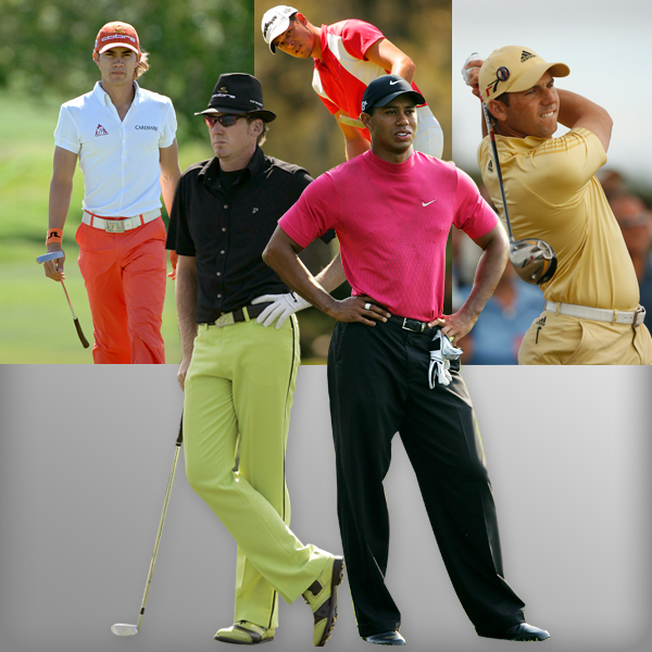 """2000 & Beyond                                          Athleticism and performance rule as golfwear becomes a fertile ground for technical innovation and celebrities give the game a new coolness. Golf clothes are endowed with increasingly exotic technical features: shirts with stretch panels and fabrics that block sunlight; trousers with vents and zippered pockets; and moistureproofing materials that give new meaning to the term """"no sweat."""" Sneakerlike golf shoes compete with old-time saddle shoes. Young stars like Camilo Villegas wear formhugging gear in colors that pop, while the top players — Tiger Woods, Phil Mickelson, Vijay Singh — keep it simple with darker hues and full cut armholes for a free swing."""