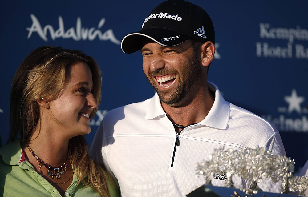 """I'm thankful that Sergio Garcia has his head, heart and game back together. His back-to-back wins in Spain point to a big 2012 for El Nino, who's still young enough to win a fistful of majors. Sergio's one of the top 5 favorites to win at Augusta."" -- Connell Barrett, Golf Magazine editor at large [Pictured: Garcia after his win at the Andalucia Masters in Spain]"