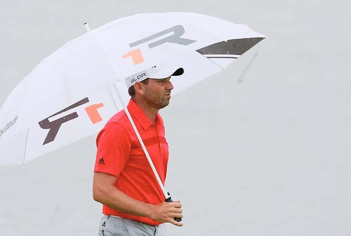 Sergio Garcia was T10 after shooting 69 in Satruday's rain.