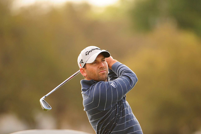 Sergio Garcia made an eagle, four birdies and three bogeys for a three-under 69.