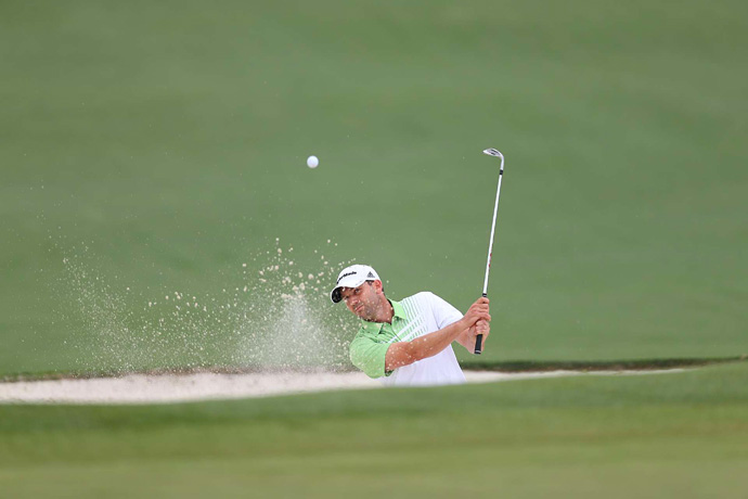 Sergio Garcia shot a two-under 70 to tie for eighth.