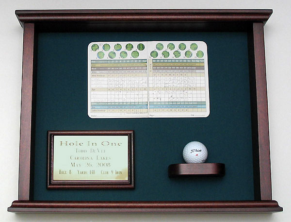 Framed Scorecard and Ball Shadow Box                       Capture dad's shining moment on the links with a glass-covered shadow box. Free personalization and shipping available.$215 on greatgolfmemories.com